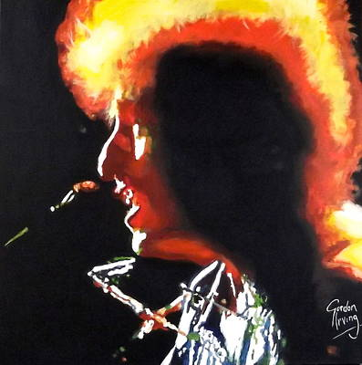 Portrait Painting - Dylan - Fire In The Sun by Gordon Irving