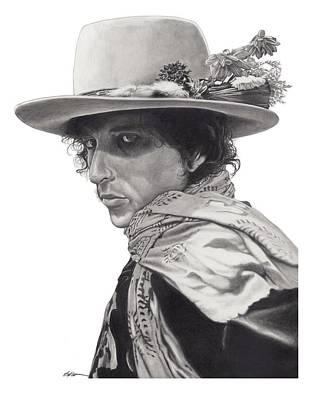 Bob Dylan Wall Art - Drawing - Dylan by Gary Kroman