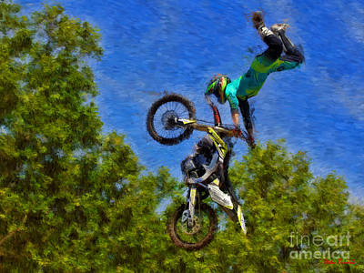 Photograph - Dylan Mcmorran Moto X Over The Bars by Blake Richards