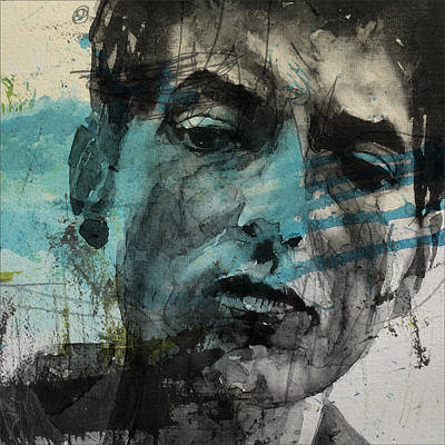 Rock Art Mixed Media - Dylan - Retro  Maggies Farm No More by Paul Lovering