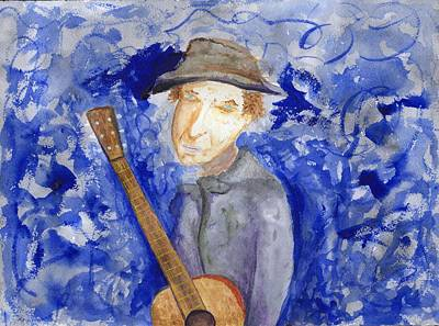 Painting - Dylan Tangled Up In Blue by Jim Taylor