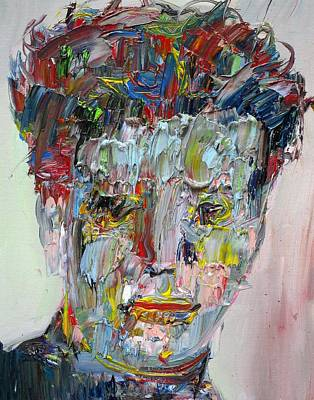Painting - Dylan Thomas - Oil Portrait by Fabrizio Cassetta