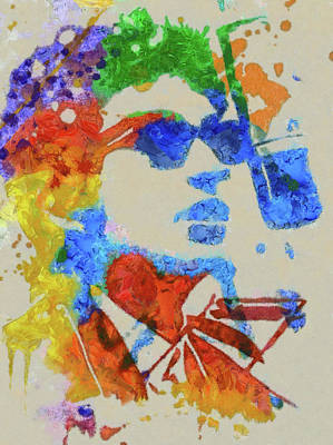 Painting - Dylan Watercolor by Dan Sproul
