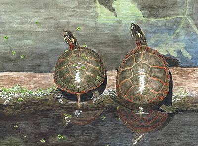 Deborah Brown Painting - Dynamic Duo by Deborah Brown Maher