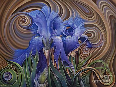 Painting - Dynamic Iris by Ricardo Chavez-Mendez