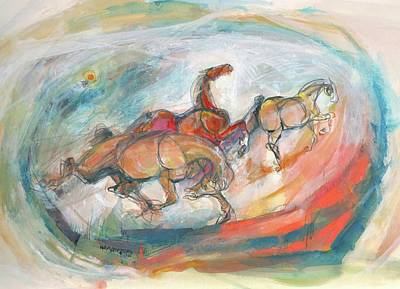 Mixed Media - Dynamic Run by Mary Armstrong