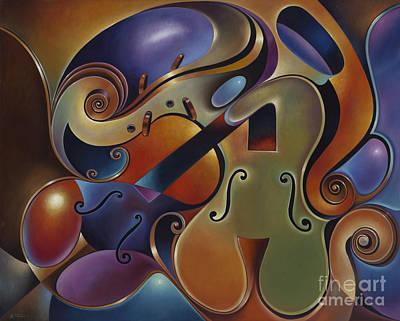 Dynamic Series Ix Violins Original by Ricardo Chavez-Mendez