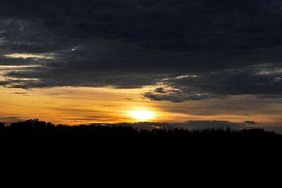 Photograph - Dynamic Sunset Over Field by Matt Harang