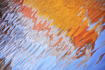 Photograph - Dynamic Water Abstract by Jenny Rainbow