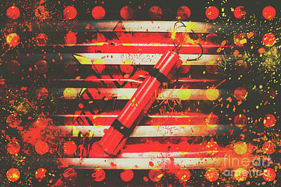 Firework Photograph - Dynamite Artwork by Jorgo Photography - Wall Art Gallery