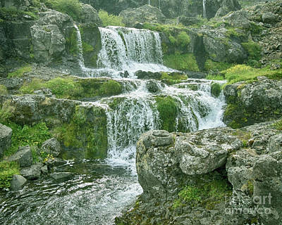 Photograph - Dynjandi Waterfall Iceland 3 by Rudi Prott