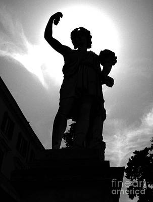 Photograph - Dyonisus Dionysus Bacchus Dioniso Roman And Greek Mythology Culture Black And White Photo by Alessandro Nesci