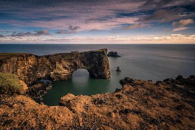 Arc Photograph - Dyrholaey Arc by Tor-Ivar Naess