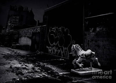 Photograph - Dystopian Playground 1 - Bw by James Aiken