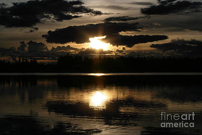 Ourjrny Photograph - Dzie Hauk Tonga Might Thunderbird Sunset Reflections Chena Lakes Alaska North Star by Sharon Mau