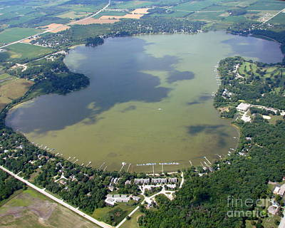 Photograph - E-003 Eagle Lake Racine County Wisconsin by Bill Lang