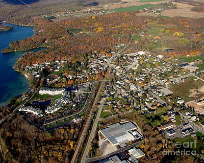 Photograph - E-007 Elkhart Lake Wisconsin City Fall by Bill Lang