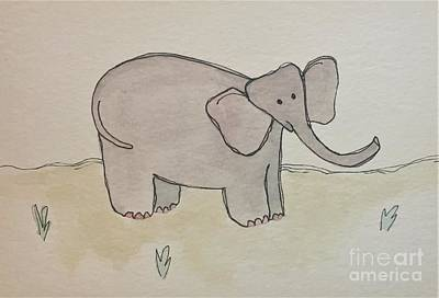 Painting - E Is For Elephant by Tonya Henderson