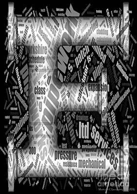 Michael C Geraghty Digital Art - E Is For Engineering - Amcg20161125 Greyscale by Michael Geraghty