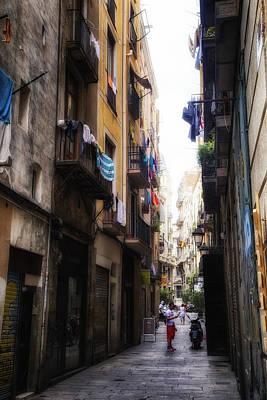 Barcelona Streets Art Print