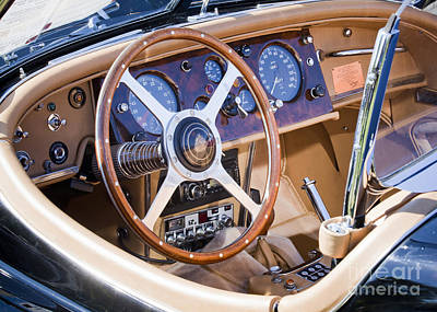 E-type Jaguar Dashboard Art Print