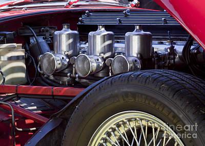 Photograph - E-type Jaguar Engine by Chris Dutton