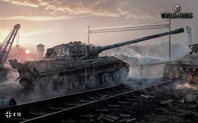 Tank Digital Art - E75 World Of Tanks by F S