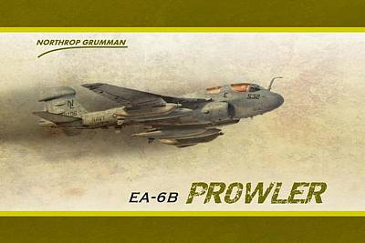Digital Art - Ea-6b Prowler by John Wills