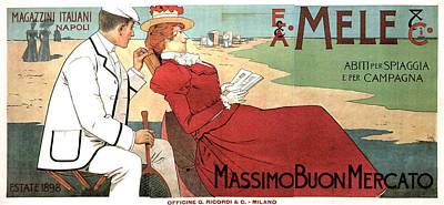 Mixed Media - E.a Mele And Co - Italian Warehouses - Napoli, Italy - Vintage Advertising Poster by Studio Grafiikka