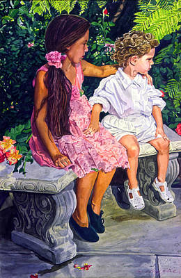Sisters Painting - Each Other by David Lloyd Glover