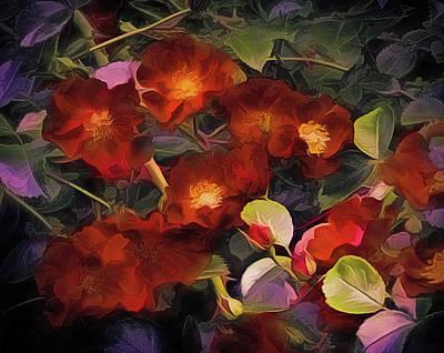 Mixed Media - Each Rose A Heart  by Lynda Lehmann