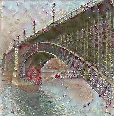 Digital Art - Eads Bridge by Gerry Morgan