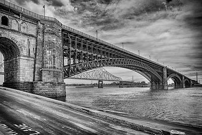 Photograph - Eads Bridge St Louis Missouri Bnw 7r2_dsc9400_06182017 by Greg Kluempers