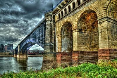 Achieving - Eads Bridge St Louis Missouri Bridge Construction Art by Reid Callaway
