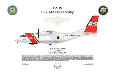 Digital Art - Eads Hc-144a Ocean Sentry by Arthur Eggers
