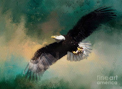 Mixed Media - Eagle 1 by Jim Hatch