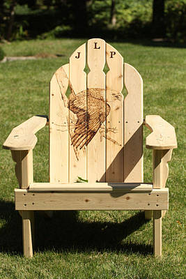 Eagle Adirondack Chair Original by Angel Abbs-Portice