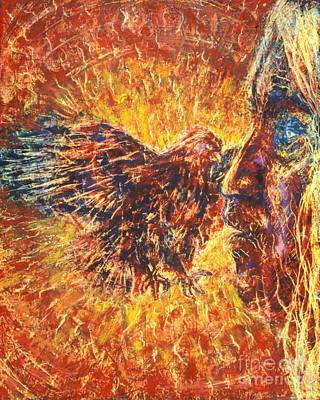 Painting - Eagle And Blind Elder - Bgebe by Fr Bob Gilroy SJ