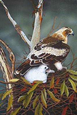 Realism Photograph - Eagle And Chick by Brian Leverton