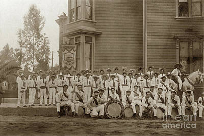 Photograph - Eagle Band's Drum Corps. Native Sons Of The Golden West  Circa 1908 by California Views Archives Mr Pat Hathaway Archives