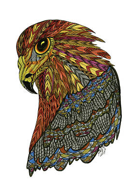 Drawing - Eagle by Barbara McConoughey