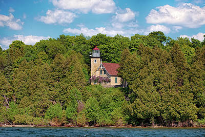 Photograph - Eagle Bluff Light by Susan Rissi Tregoning