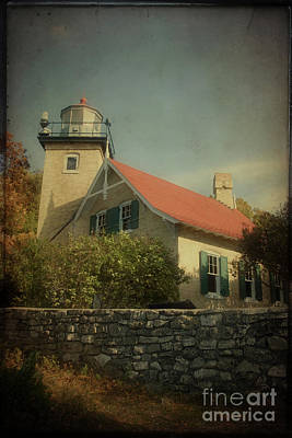 Photograph - Eagle Bluff Lighthouse by Joel Witmeyer