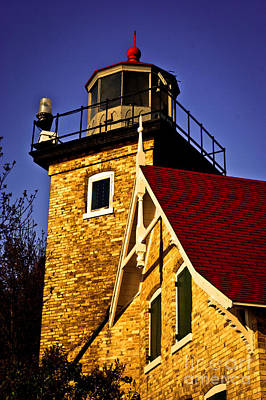 Photograph - Eagle Bluff Lighthouse Of Door County by Mark David Zahn
