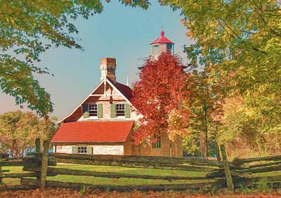 Digital Art - Eagle Bluff Lighthouse_1 by Trey Foerster
