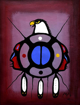 Lake Superior Art Gallery Painting - Eagle Clan by Francis Esquega