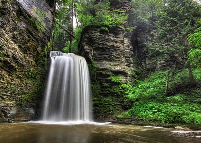 Montour Photograph - Eagle Cliff Falls by Lori Deiter