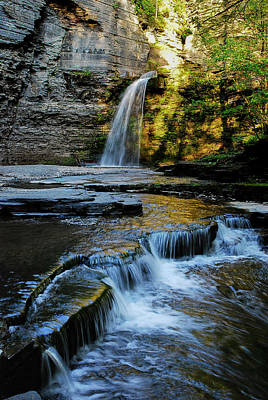 Photograph - Eagle Cliff Falls by Optical Playground By MP Ray