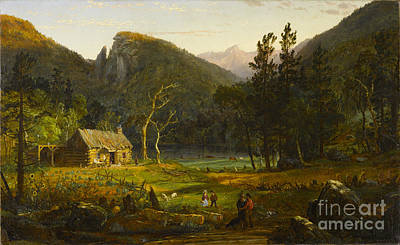 Jasper Francis Cropsey Painting - Eagle Cliff Franconia Notch New Hampshire by Celestial Images