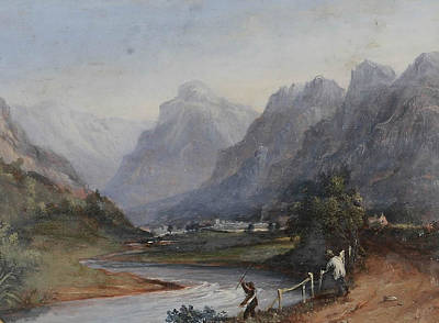 Waters Painting - Eagle Crag From Rosthwaite by John Howe